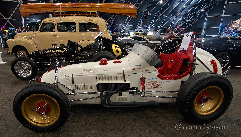1960s era USAC vintage sprint racing car.
