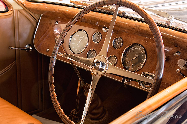 Interior of mid-thirties Bugatti