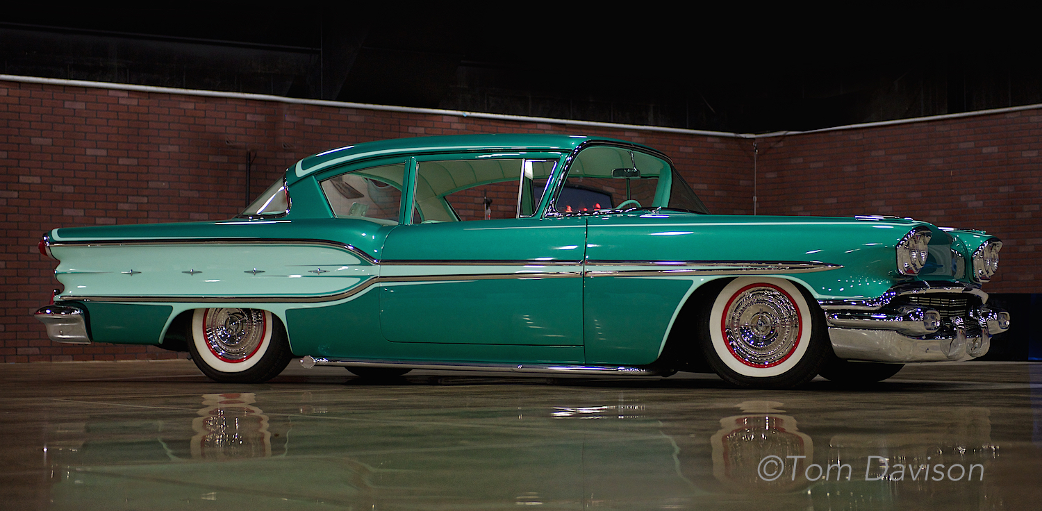 1958 Pontiac built in a style that would reflect it being built as a brand new car in 1958.