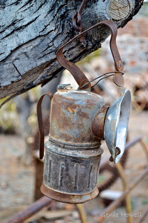 Old miner's lamp.