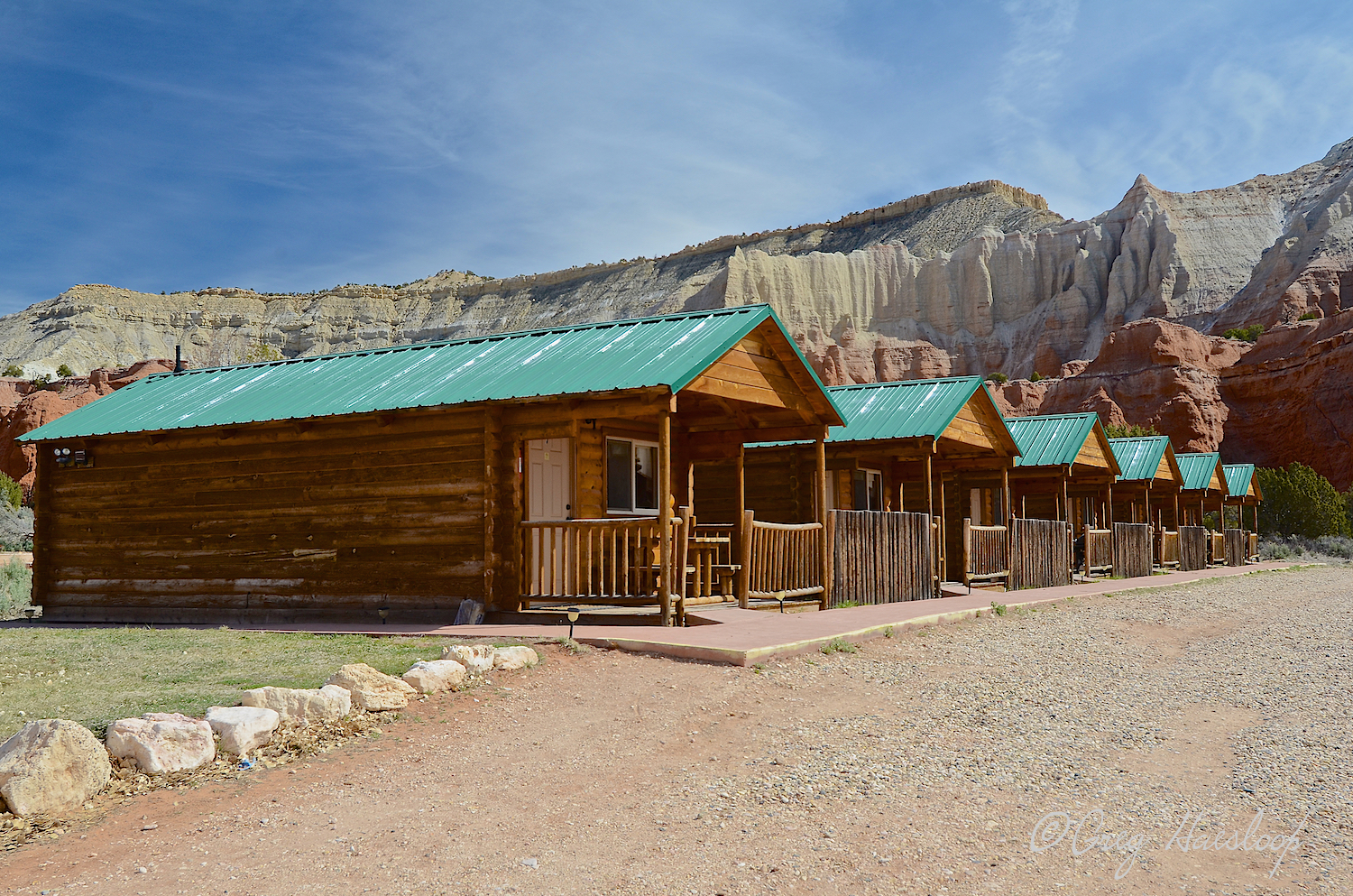 These might be the cabins where Greg and Ann stayed.  He called them the Red Stone cabins and said they were nice and had the added benefit of being in the park.