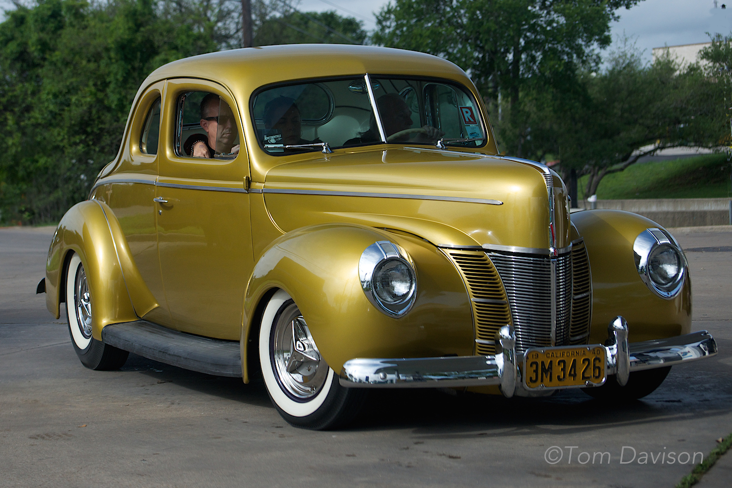 This is Lee's 1940 Ford. It has been on the cover of Rodder's Journal.