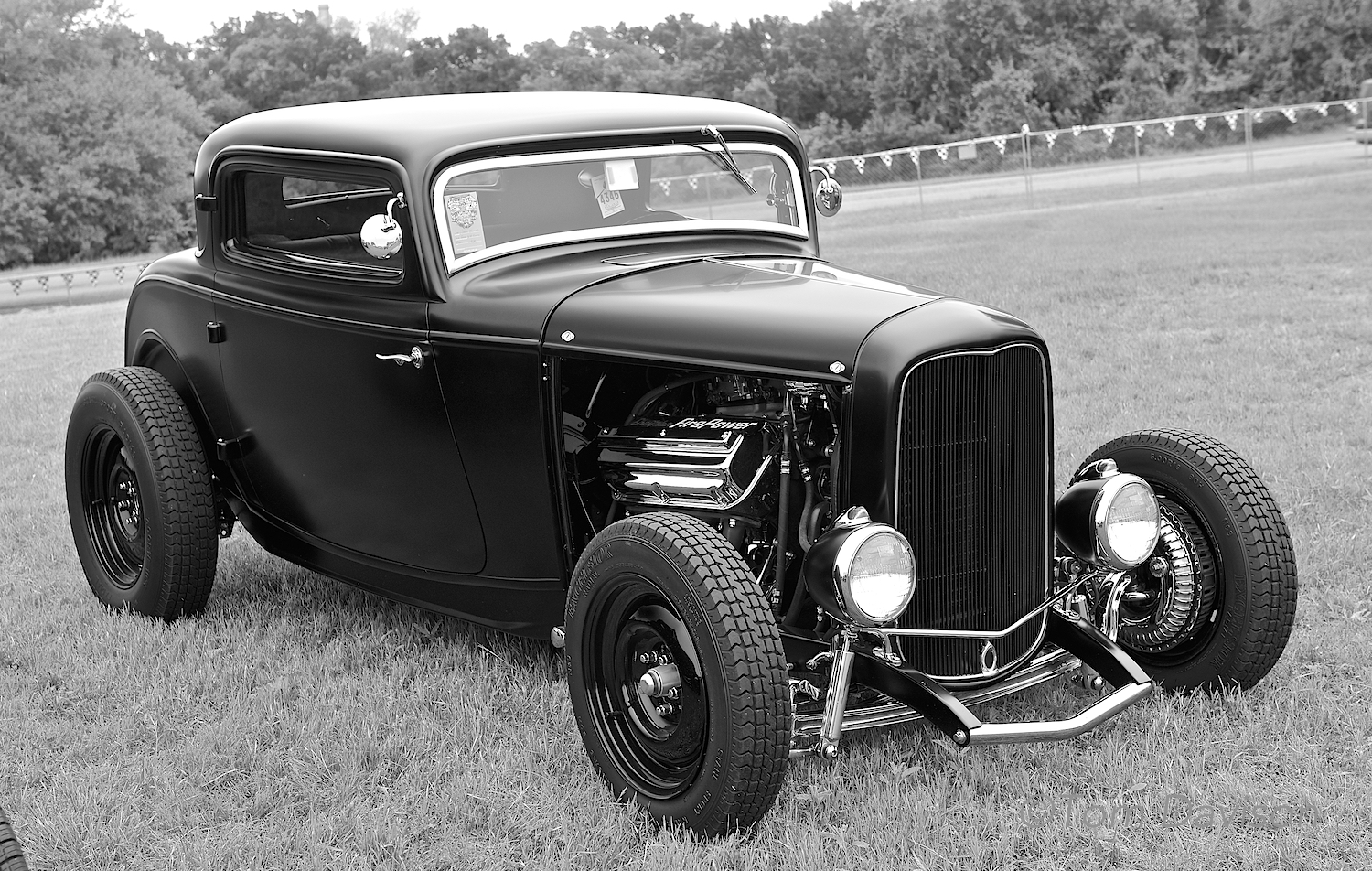 A 1932 Ford Coupe, hemi-powered. It was driven to the show from the East Coast.