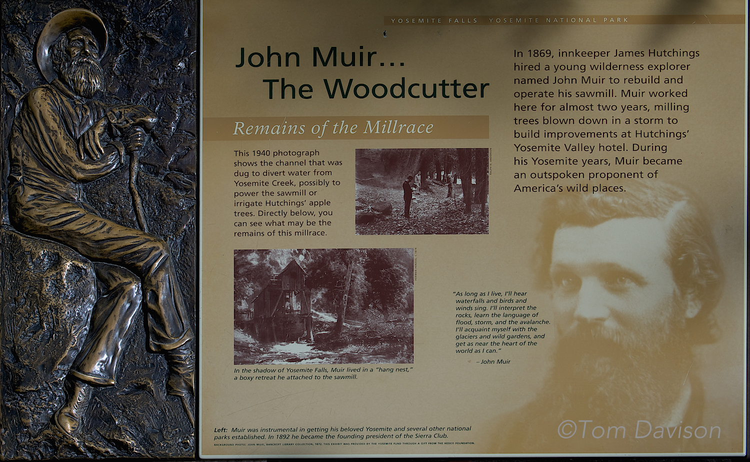 We owe a great deal to John Muir.
