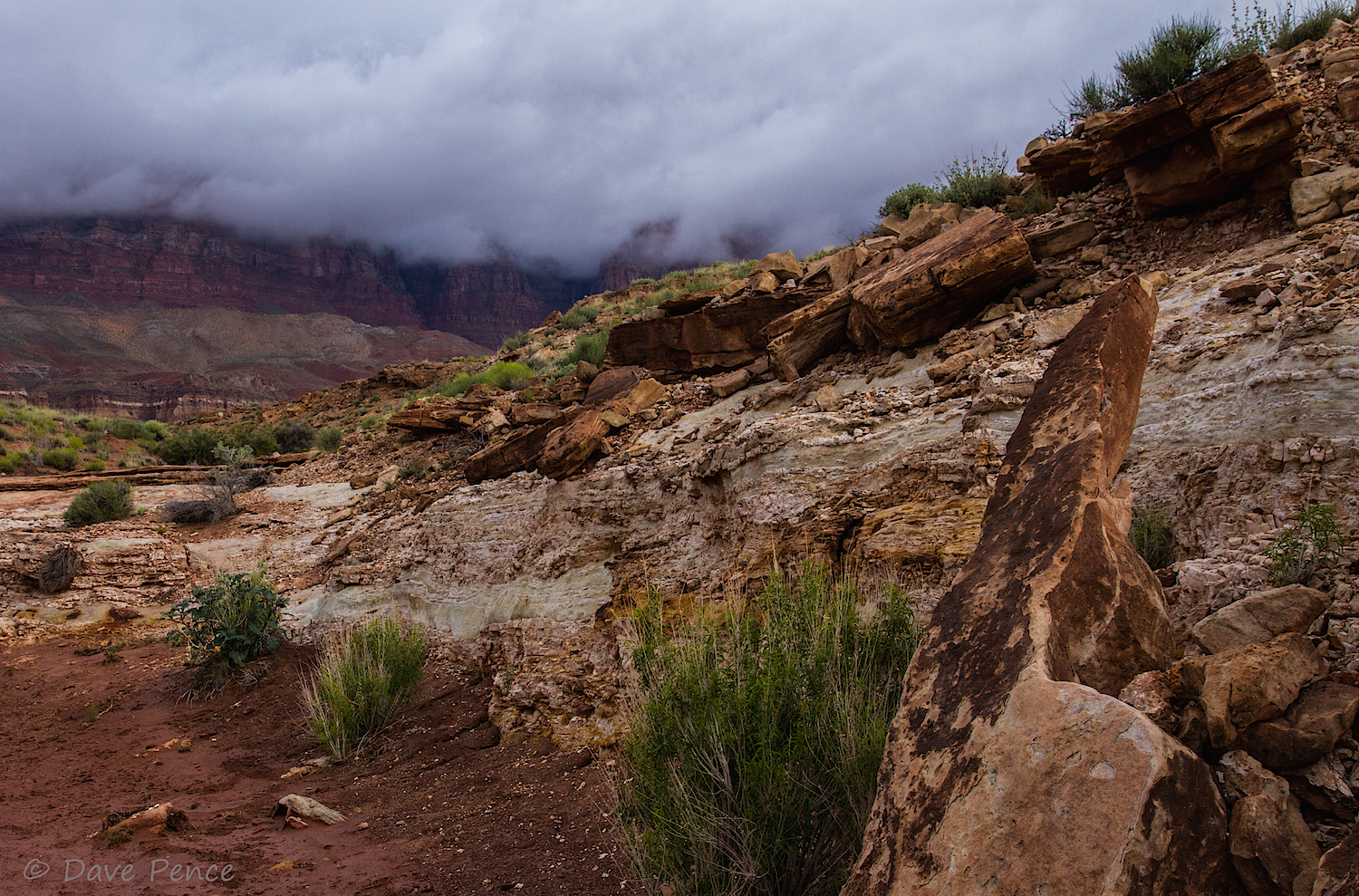 Dave hiked Soap Creek, very near Cliff Dwellers Lodge, waiting for me to arrive. Wowza!