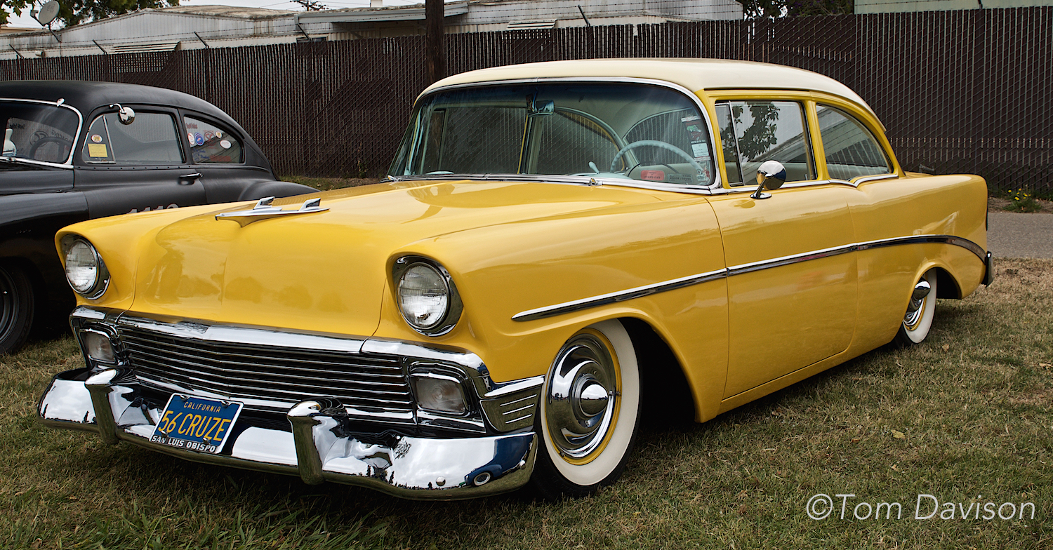 This is a 1956 Chevy two-door.