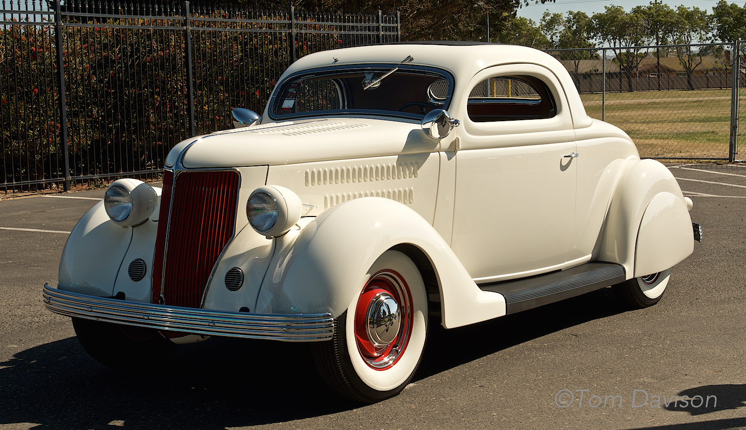 This 1936 Ford is an iconic early hot rod from the 1040s, recently found and restored.