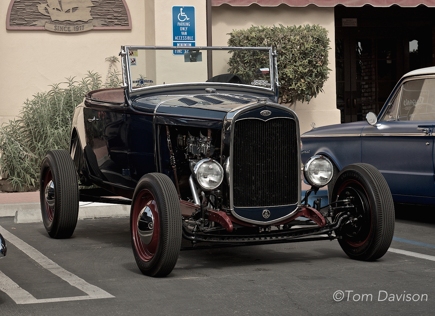 An outstanding example of a typical Model A Ford hot rod roadster.