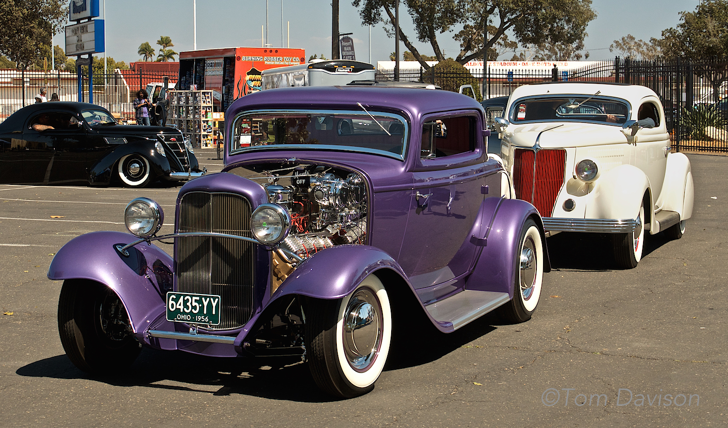 Both the 1932 Ford and the 1936 Ford are cars from the past recently restored.