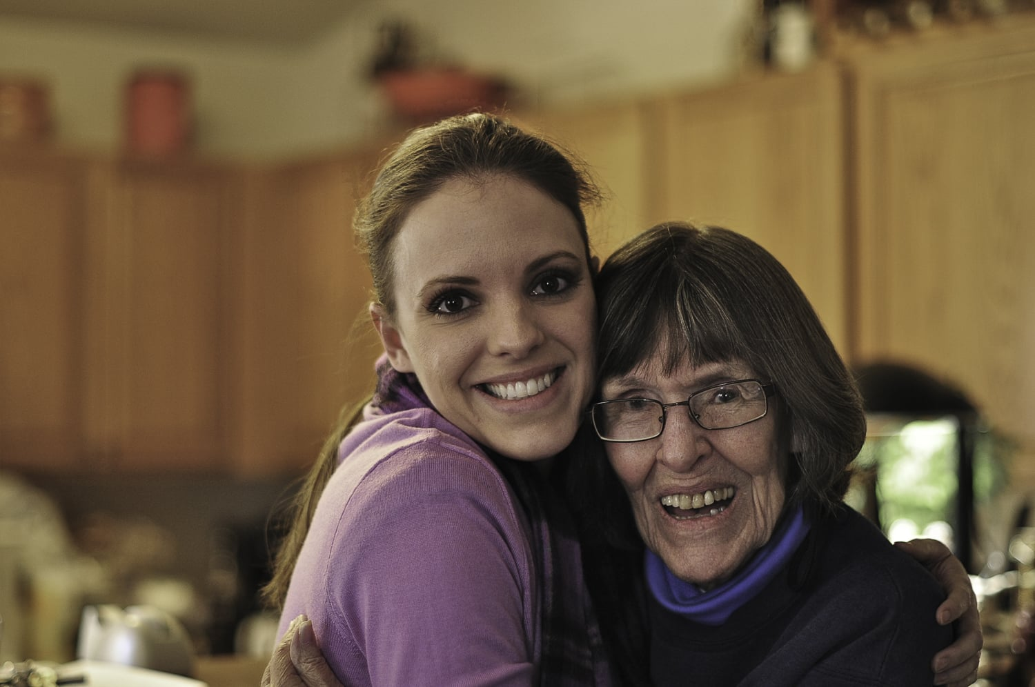 Mom with my daughter Erica. They were very close. Mom shared her interests in gardening and cooking with my other daughter, Brynn, with frequent exchanges of photos and text messages.