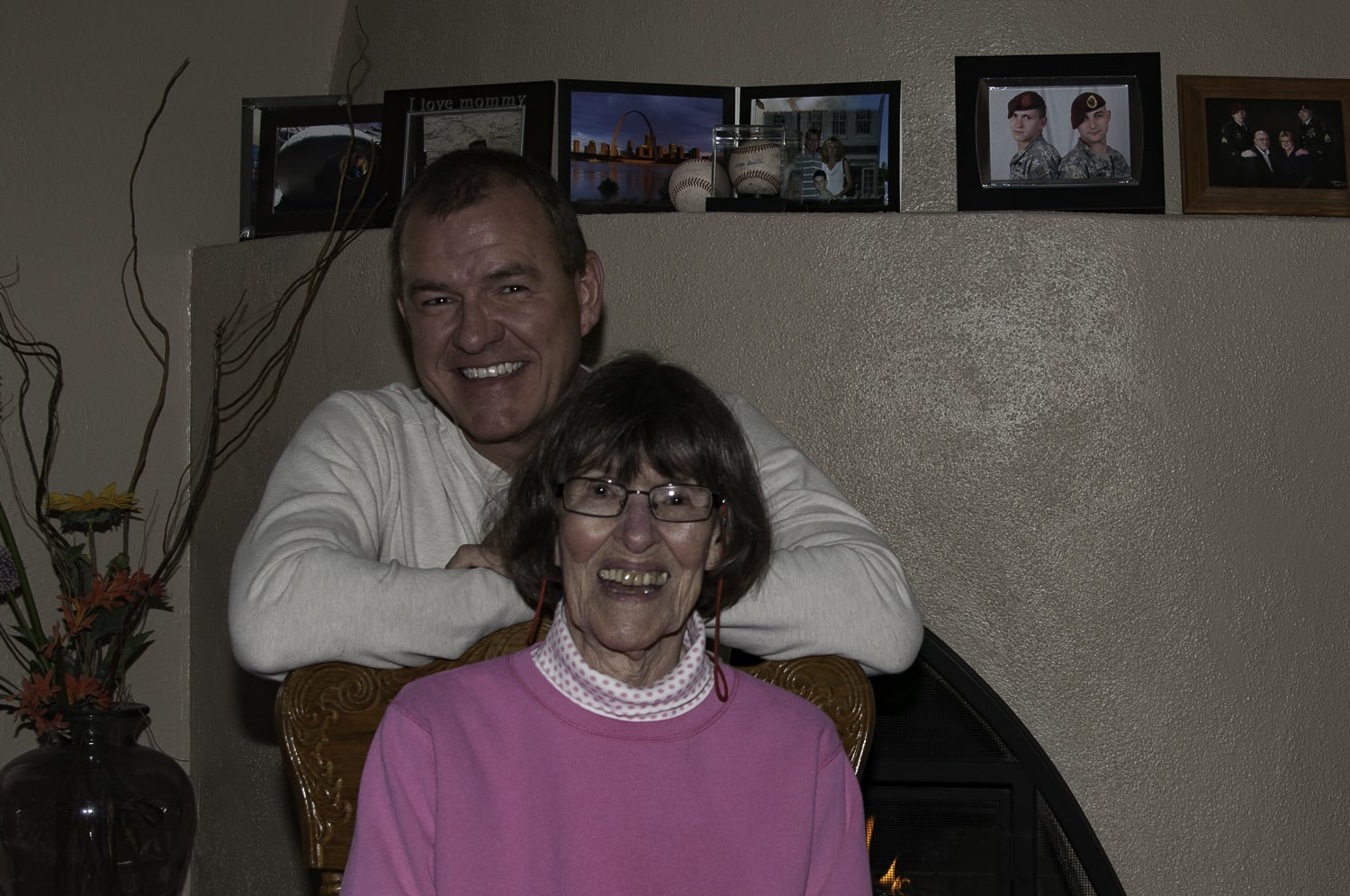 Mom with her 'baby' Larry.