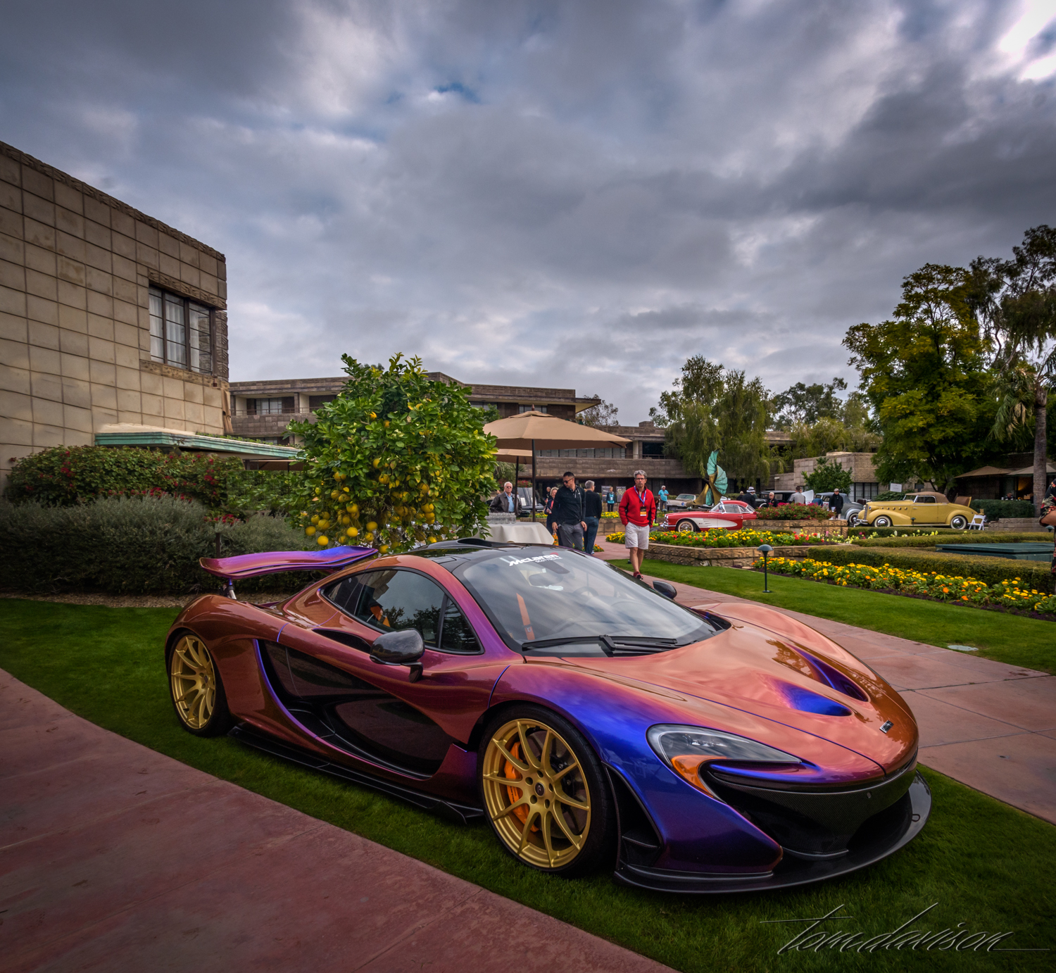 New model McLaren supercar with color changing paint.
