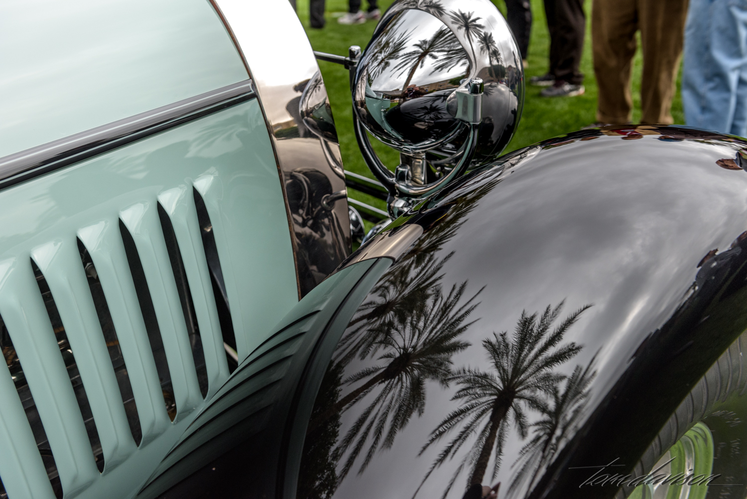 Reflections on a Bugatti