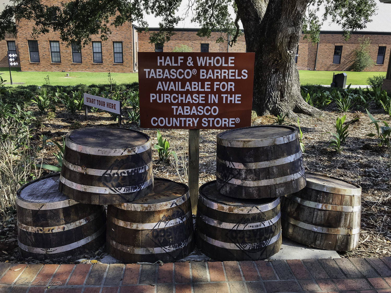 """As we walked up to the Museum to get our tickets we saw this great opportunity! My first thought was """"No room at our house."""" My next thought was, """"Hmmm, Tabasco must be a fermented item."""""""
