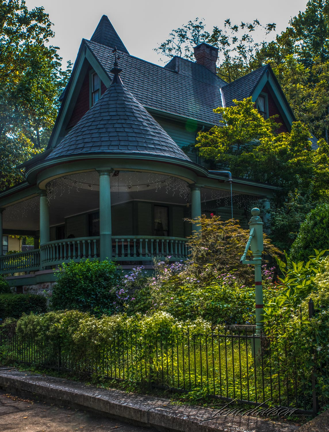 A well maintained Victorian style home.