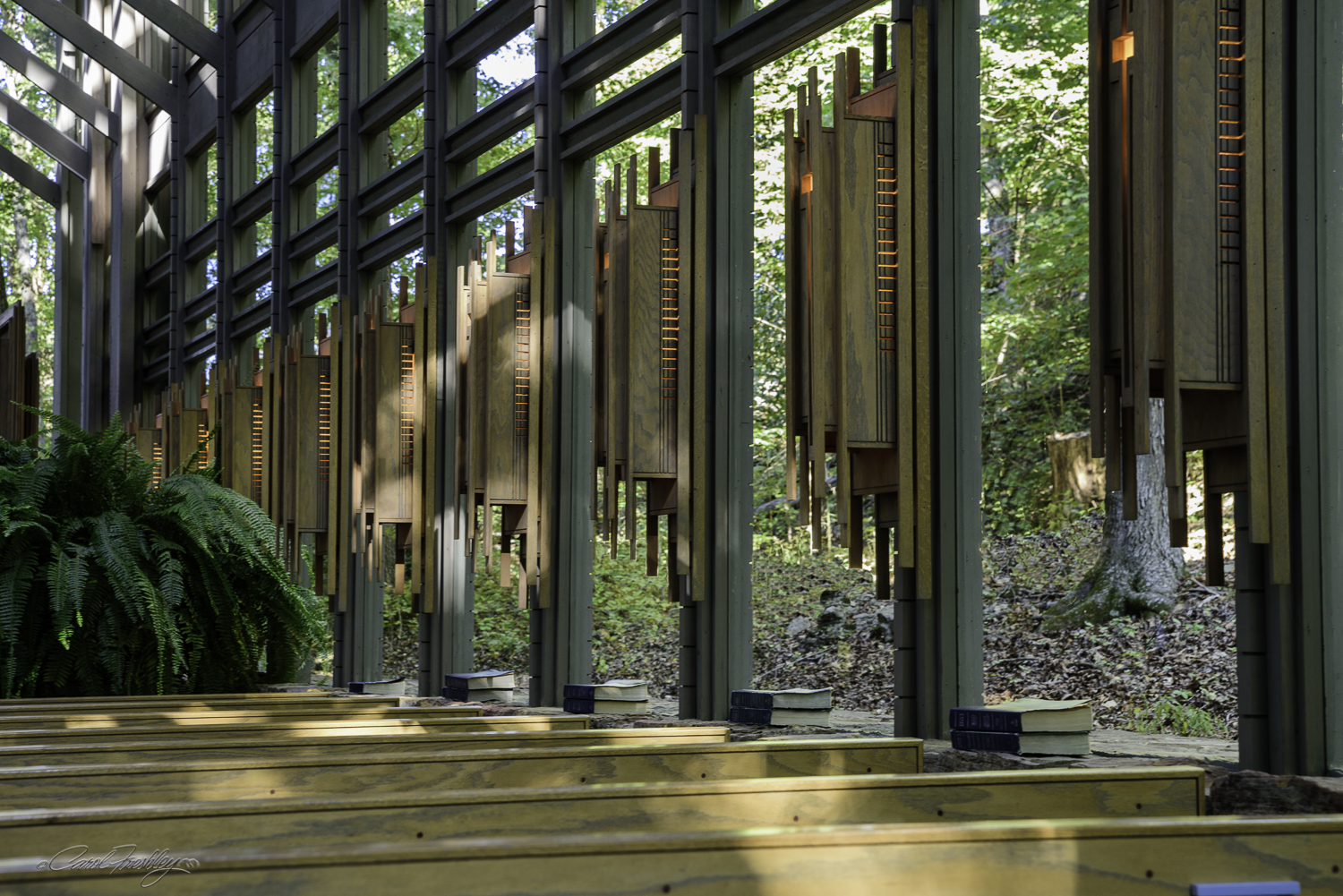 The Chapel is 48 feet in height, has 425 windows and over 6,000 square feet of glass.