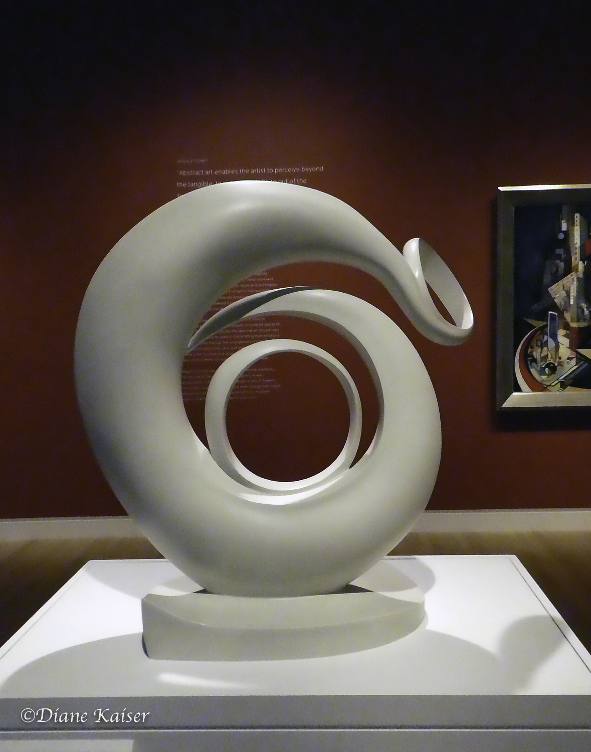 Abstraction, by Georgia O'Keefe (1887-1986).  It is made of white-lacquered bronze.