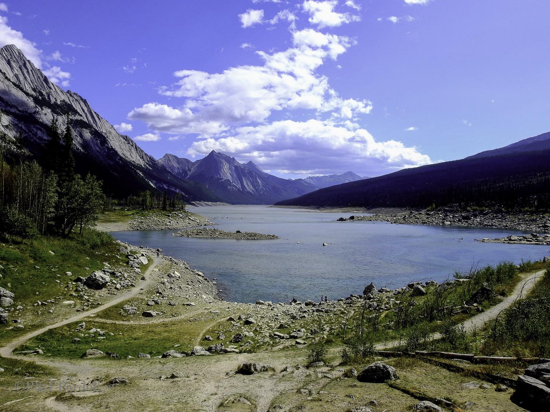 Medicine Lake and area Medicine Lake in Jasper