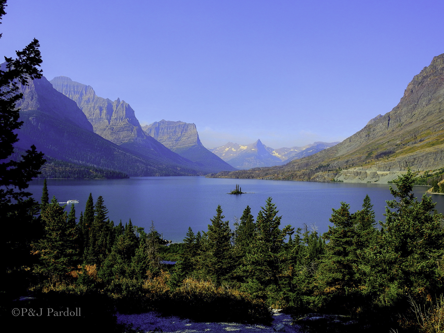 Wild Goose Island in St. Mary's Lake, Glacier National Park