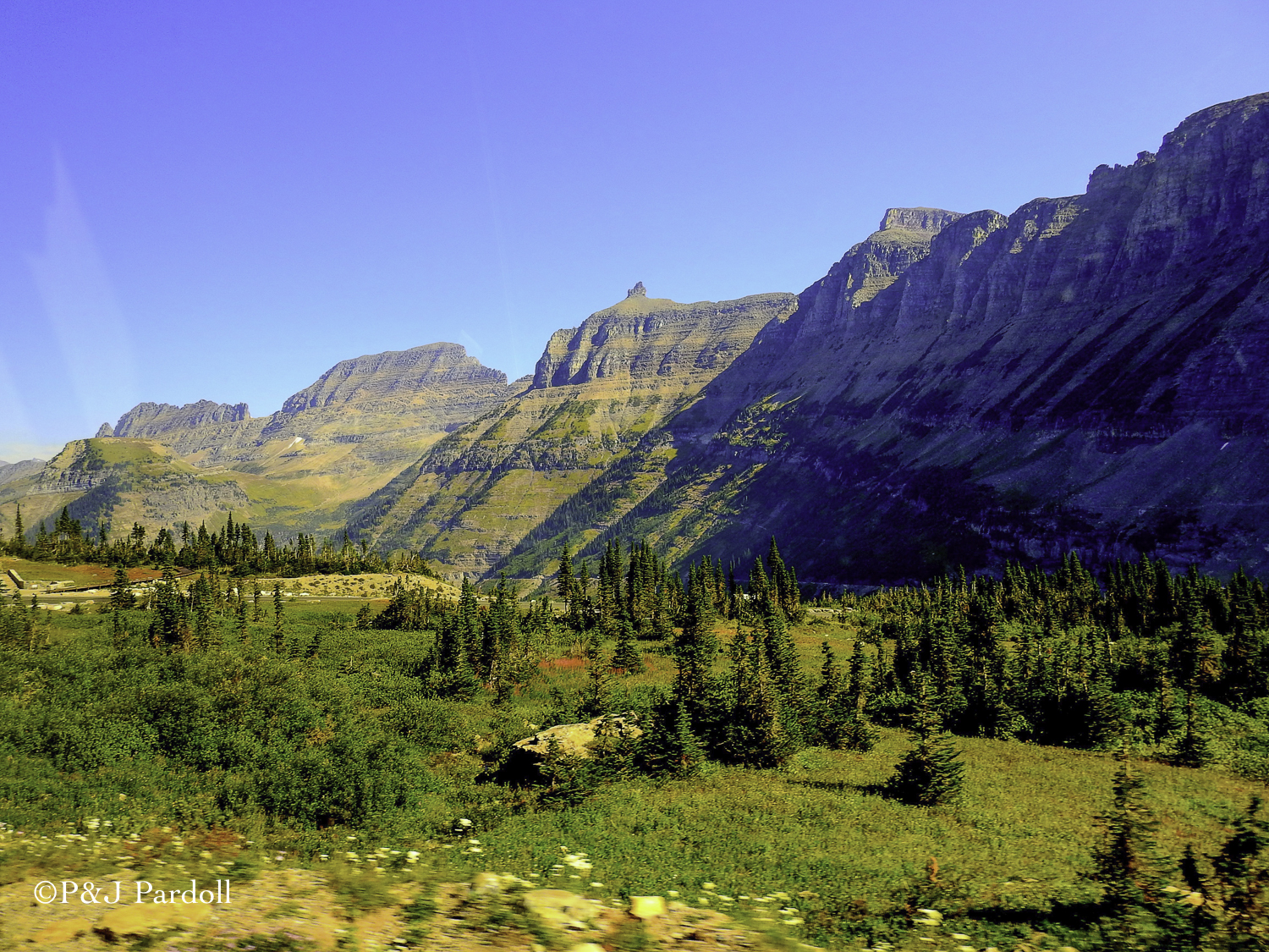 Along the 'Going to the Sun' Highway in Glacier National Park