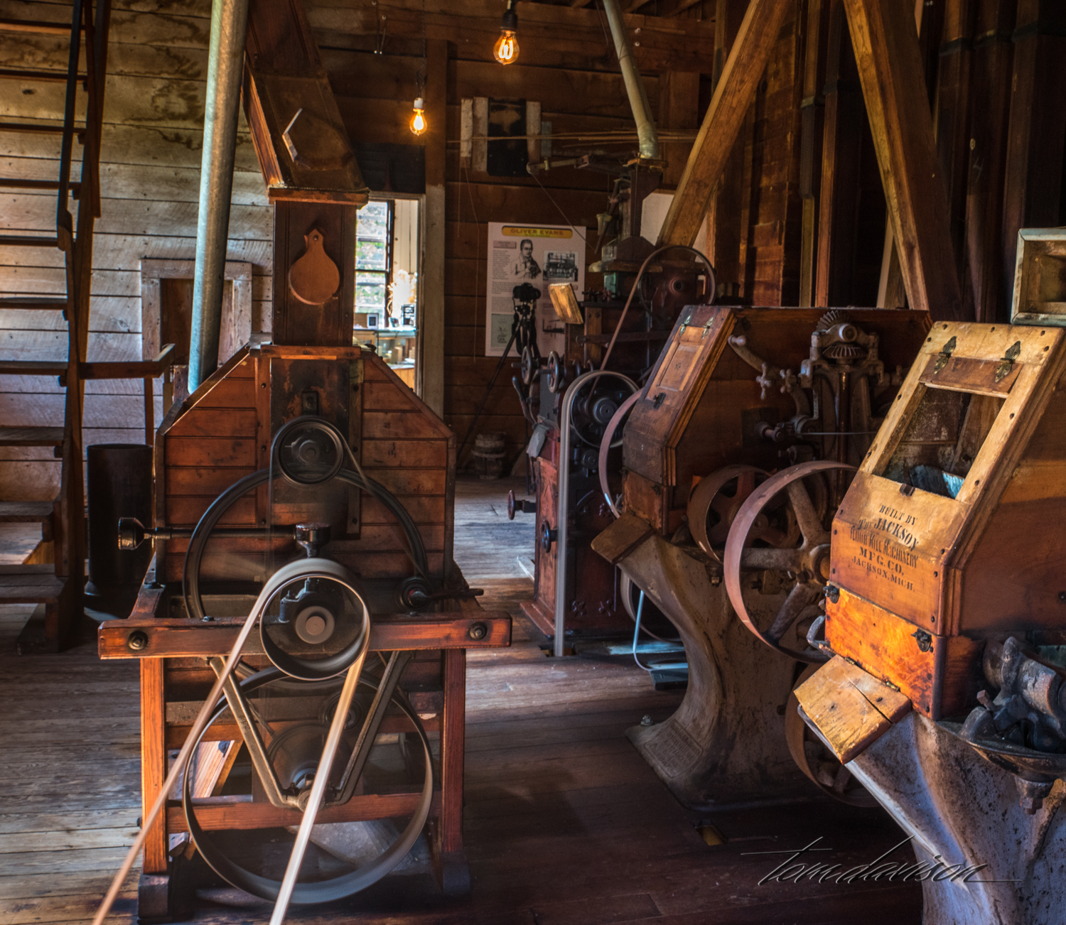 """We asked if the mill still ground grain. """"Oh no!!! It would take us two weeks to clean up the mess it would create. We could not give tours in such a mess."""" Ok then, we will just watch the wheels whir and pretend."""