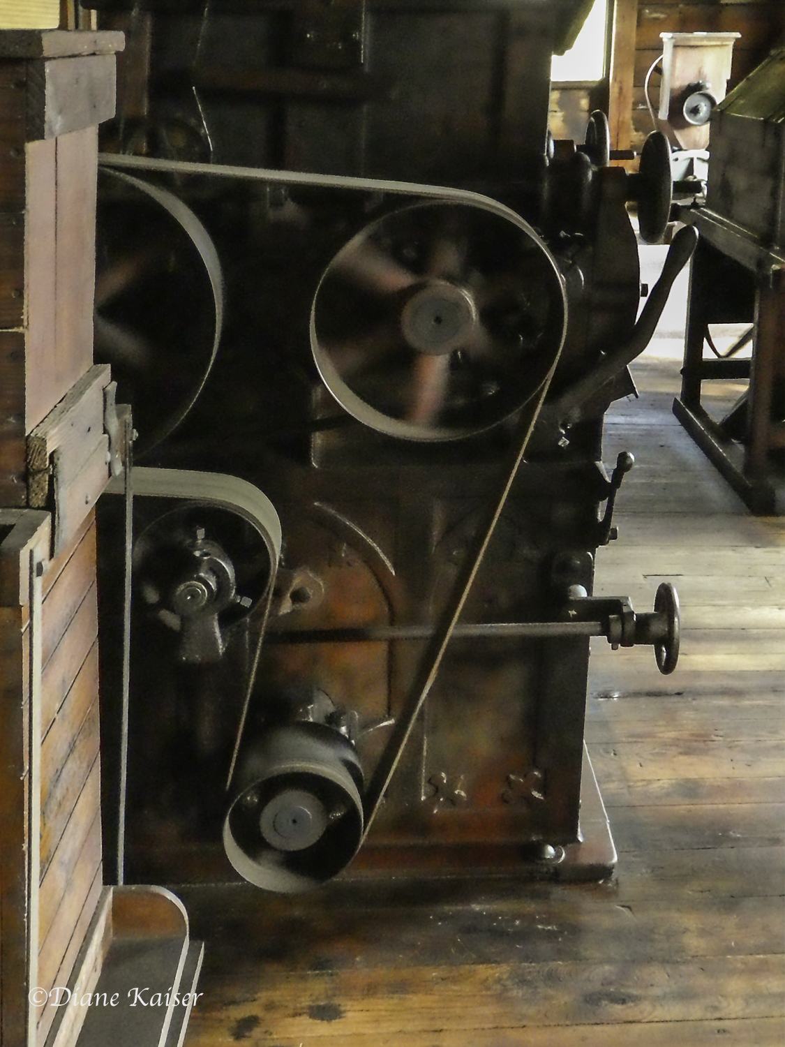 Dillard Mill is one of the few restored and fully operational mills. All of the original equipment remains in place.