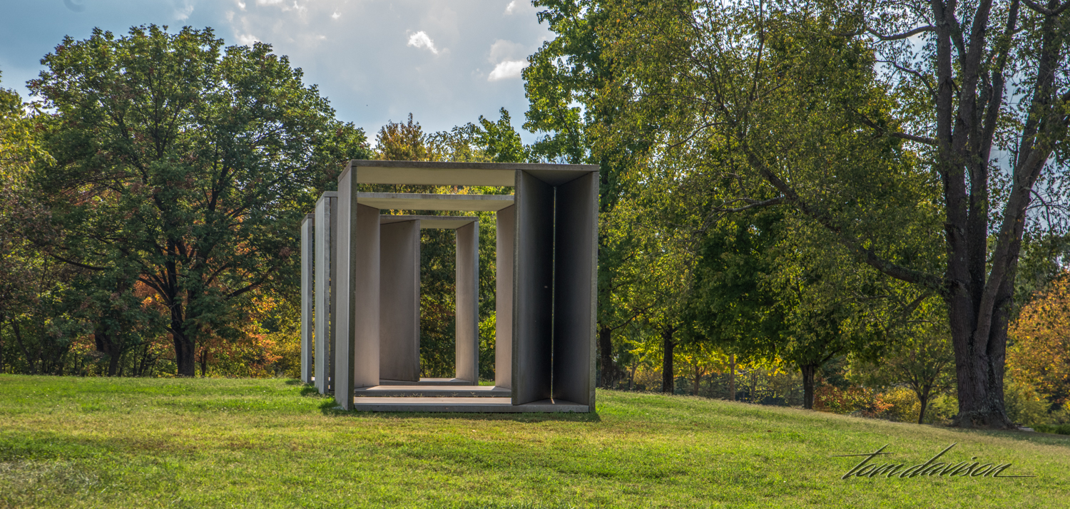 Untitled,  by Donald Judd, 2004, concrete with steel reinforcements.