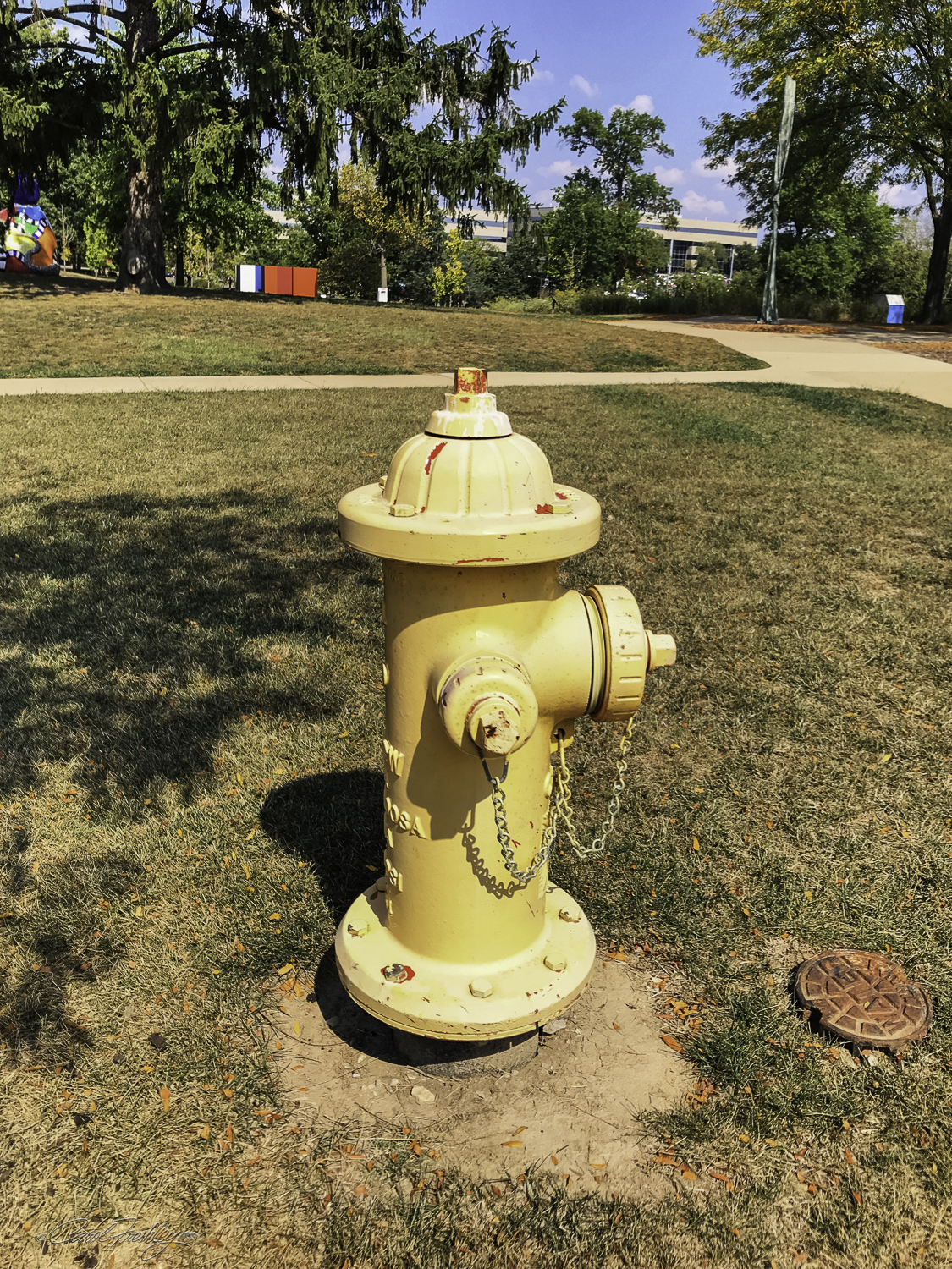 St. Louis FD's  Here for the Park Dog, 1999, steel, paint, water pipe.