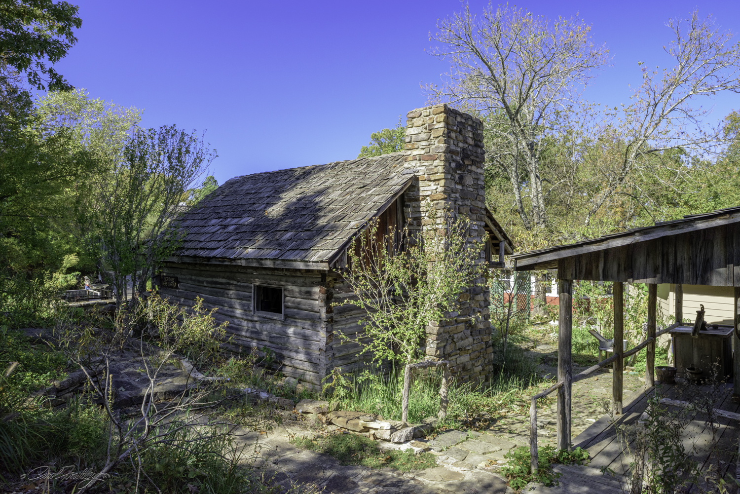 The Center consists of a number of rustic cabins such as the one above. Inside, however, are modern conveniences such as electricity and running water.