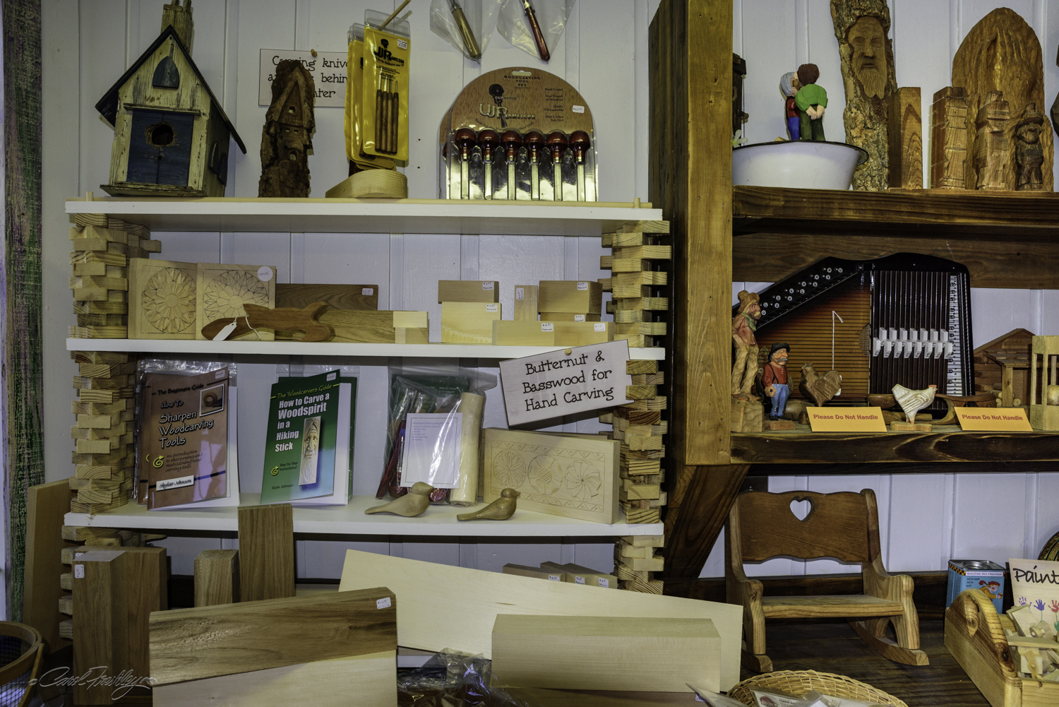 A woodworking shop.