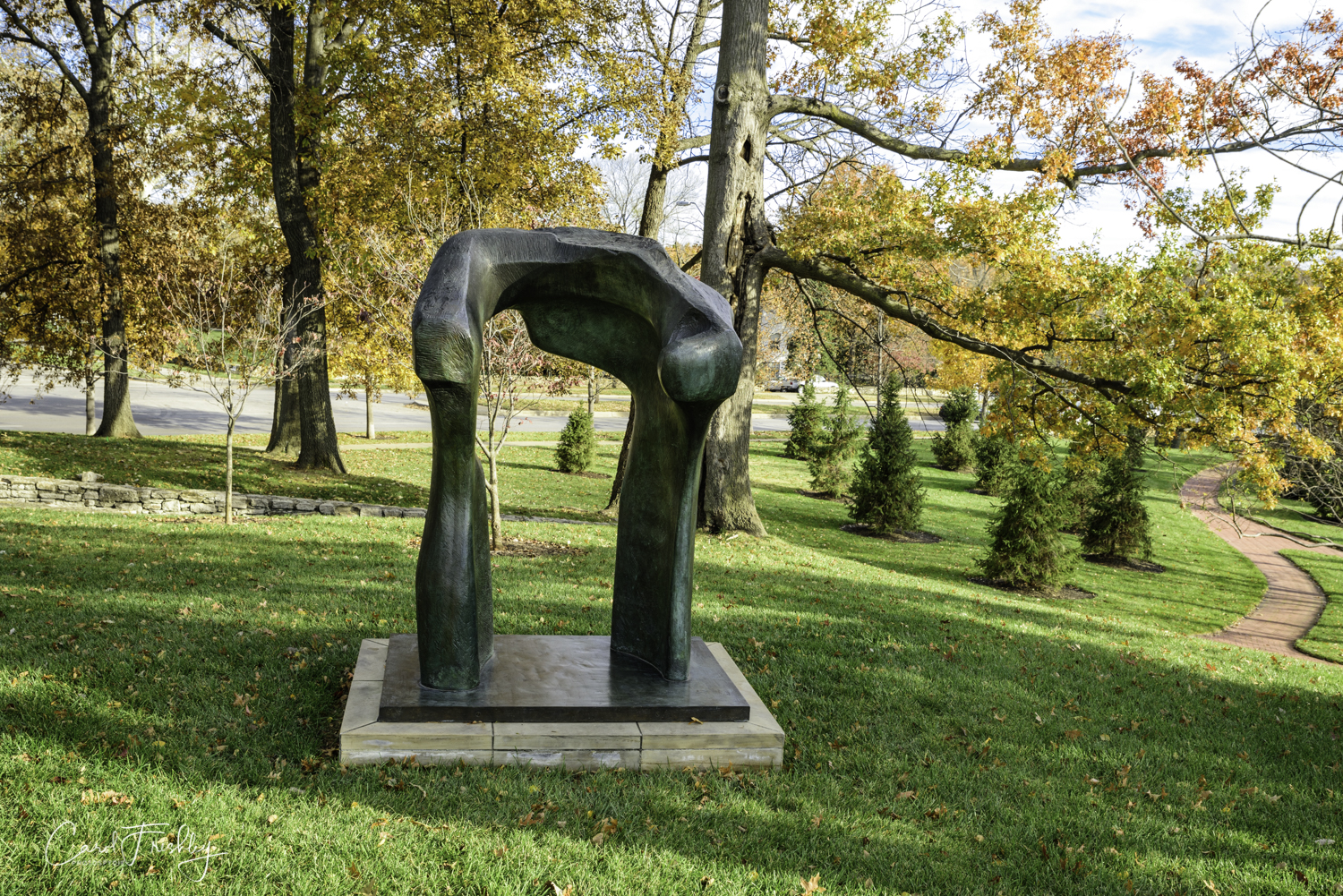 This is  Large Torso Arch,  another Henry Moore sculpture.