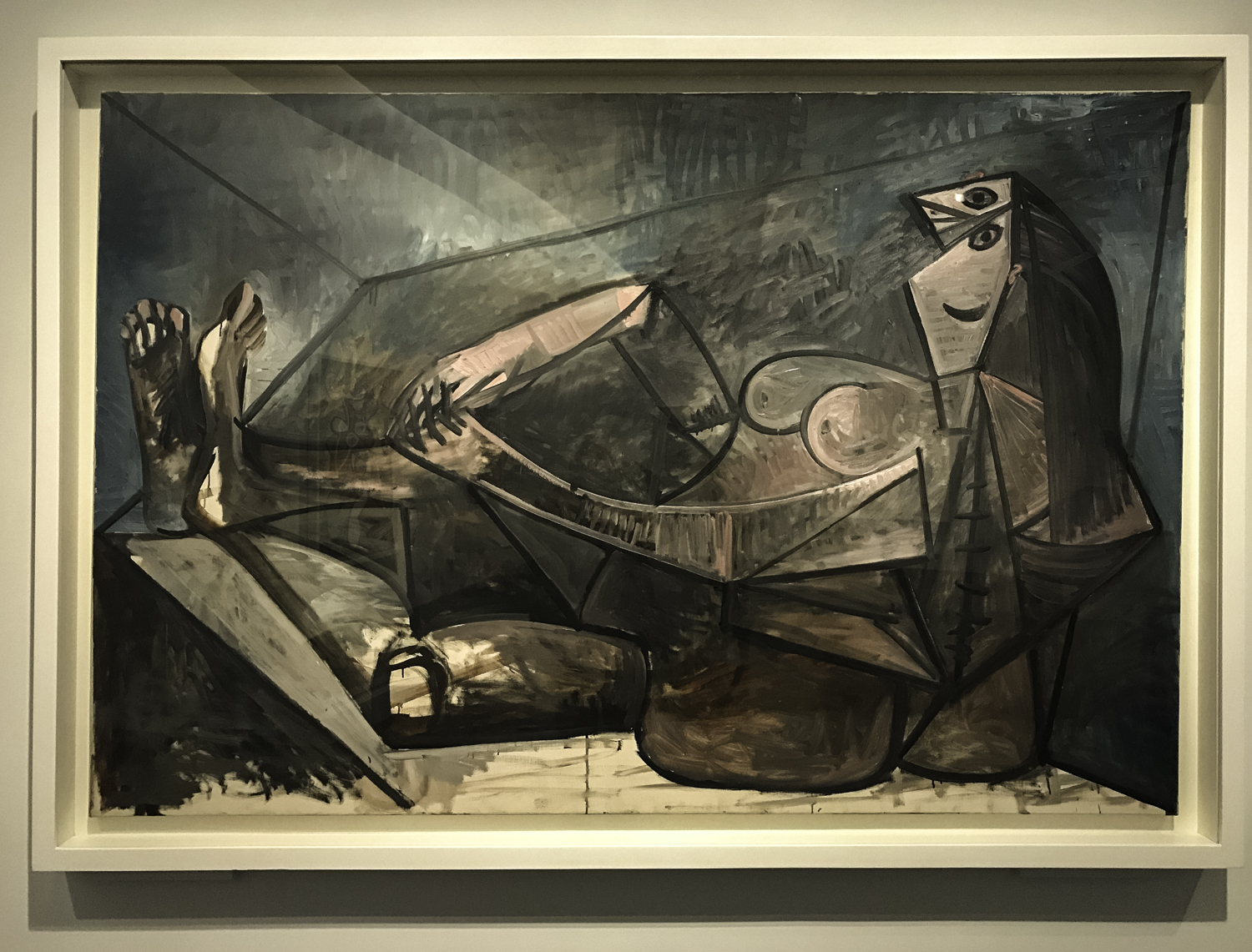 Large Reclining Nude,   oil on canvas, 1943.
