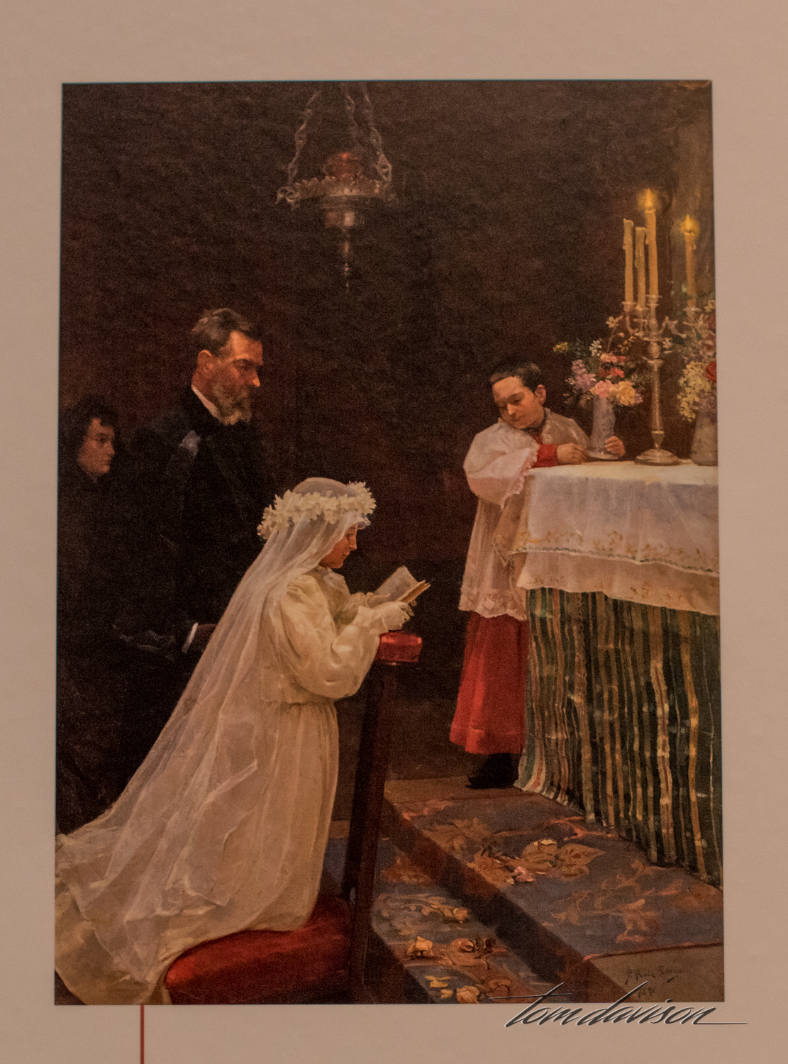 First Communion,   Oil on canvas, 1896.  This is Picasso's first significant oil painting.