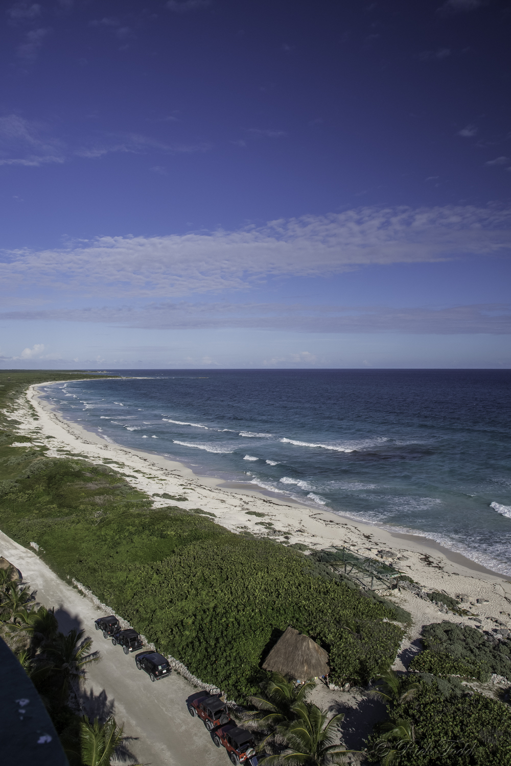 View from top of Punta Sur Lighthouse in Cozumel
