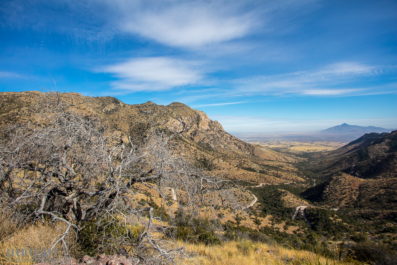 Down the last curves to Sierra Vista.