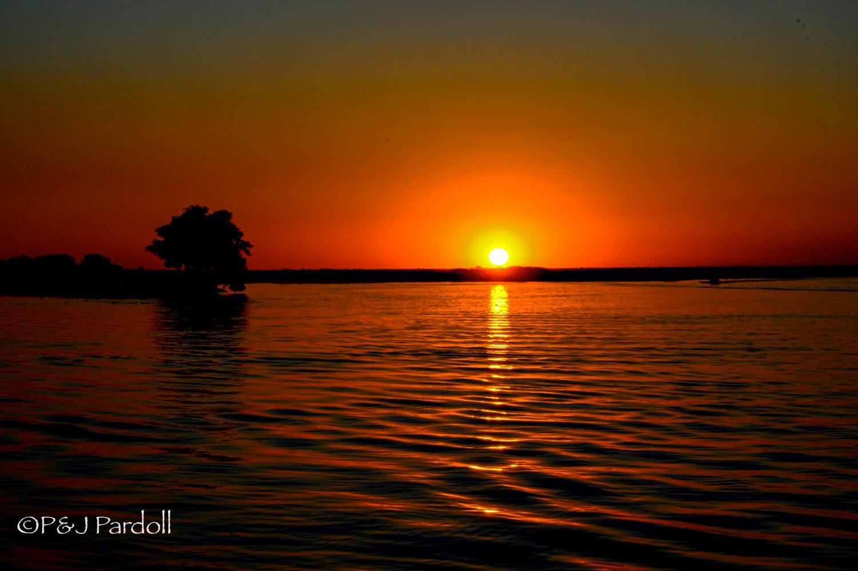 Sunset, Zambezi River, Botswana