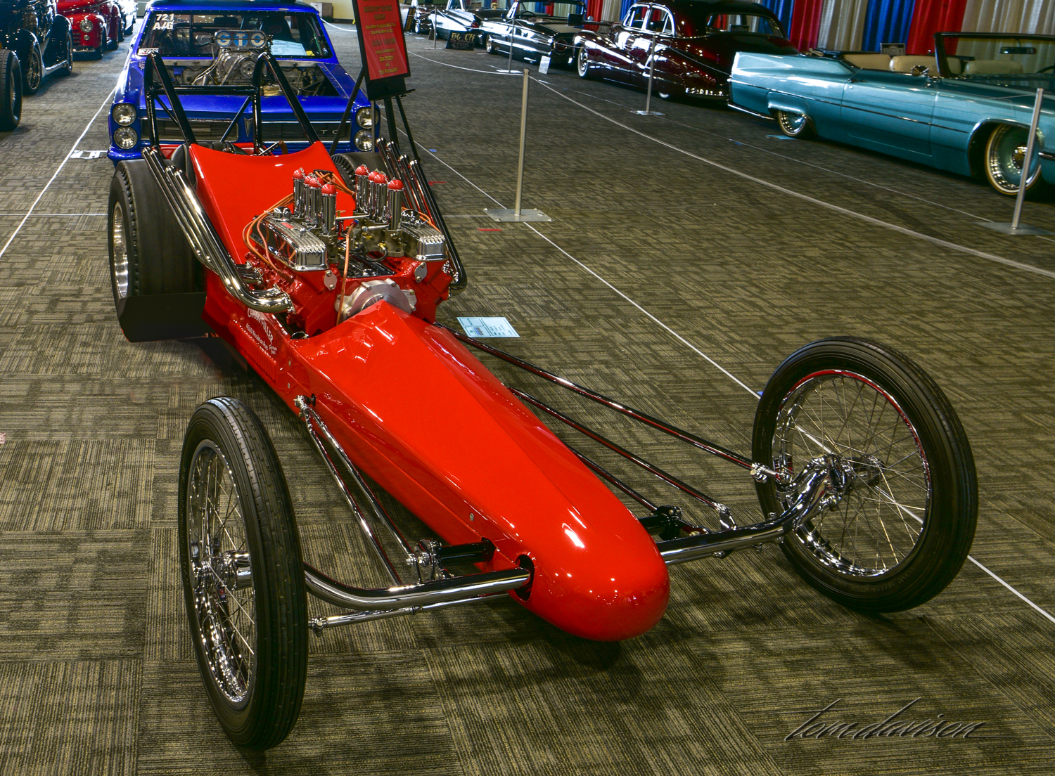 Recreation of 1960s dragster.