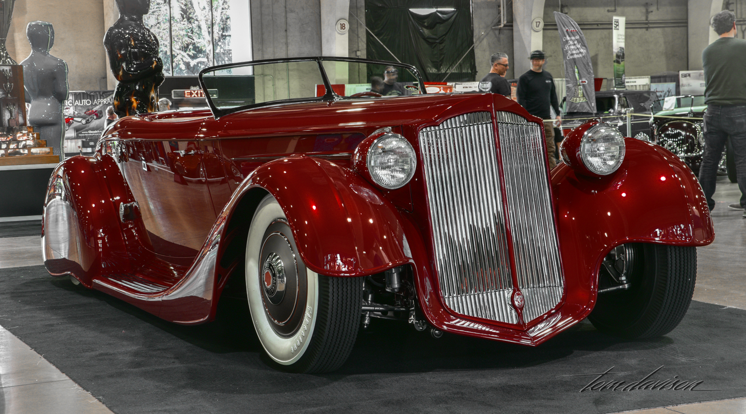Last year's America's Most Beautiful Roadster, built as a Packard but largely hand made.