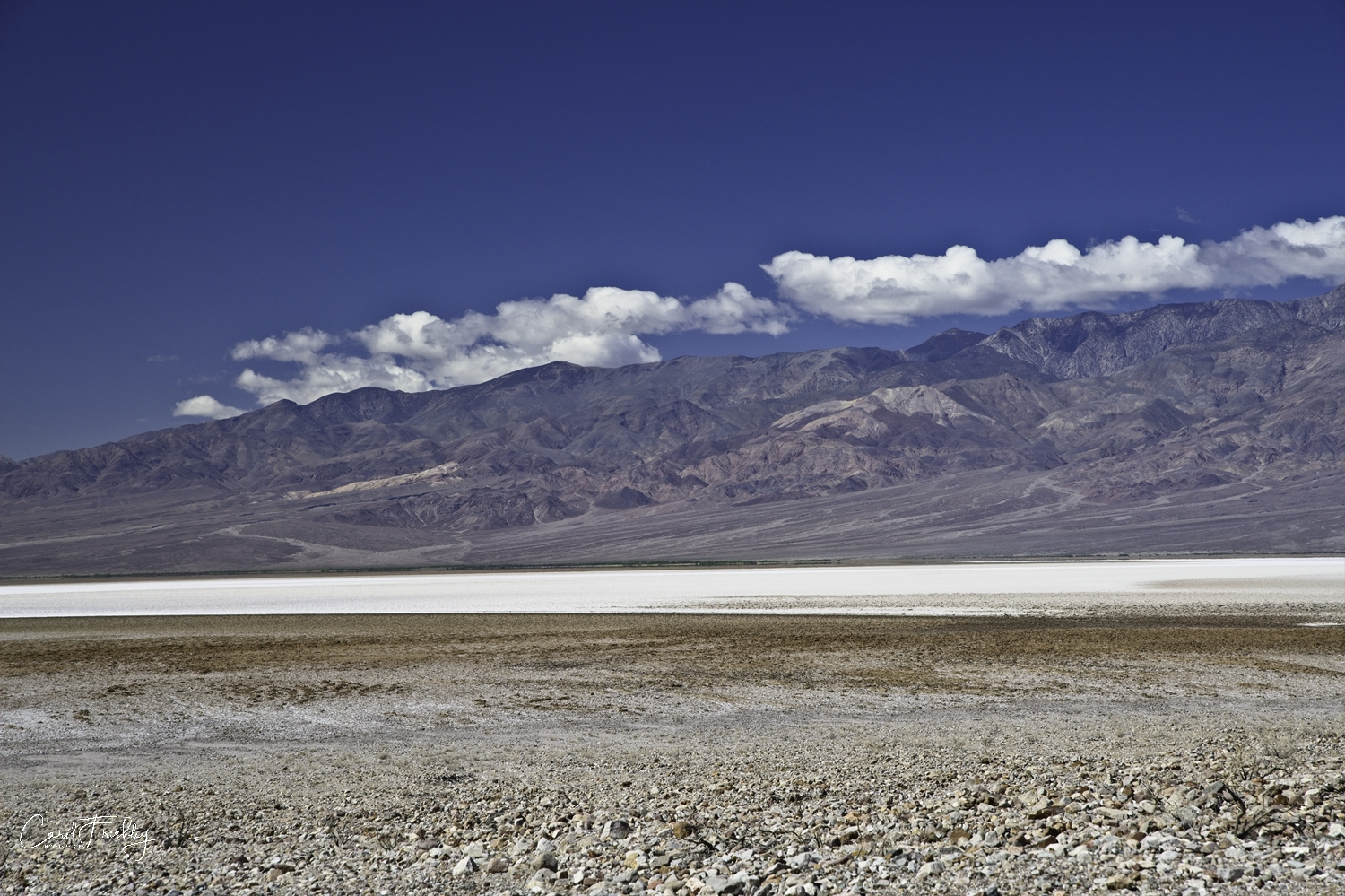 Panamint Mountain Range to the west of Badwater Basin.