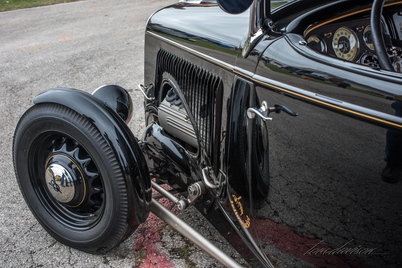 Custom hood work on 1934 Ford