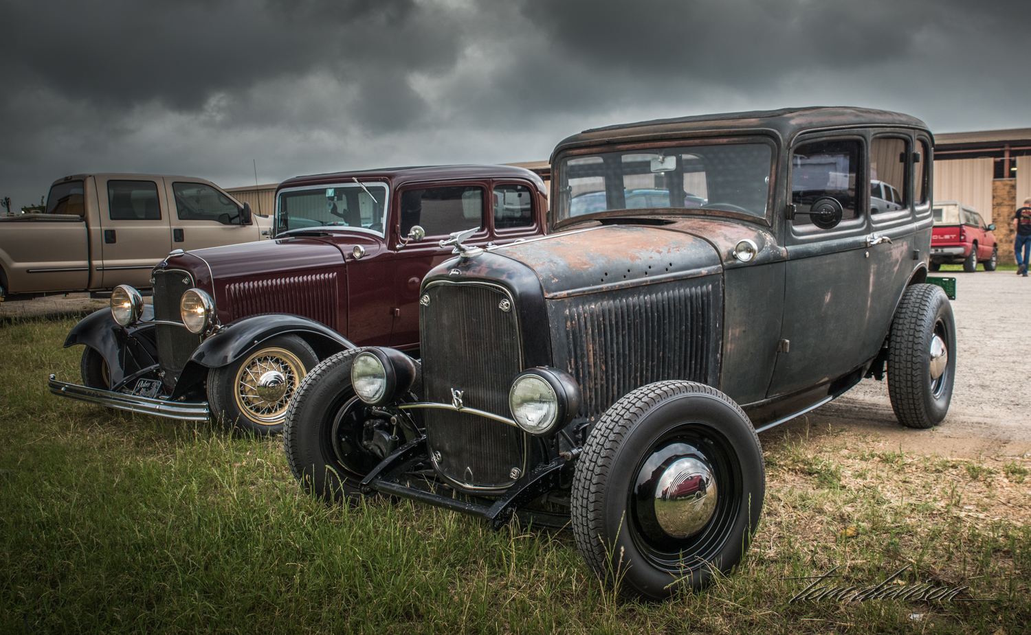Two versions of 1932 Ford Sedan