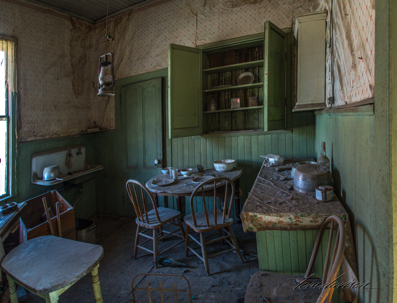 As mentioned, the rooms have not been cleaned up or changed since they were abandoned by their residents or business owners. It gives the whole place a very different feel than one might expect from other ghost towns where an effort is made to preserve them as they were when being used.
