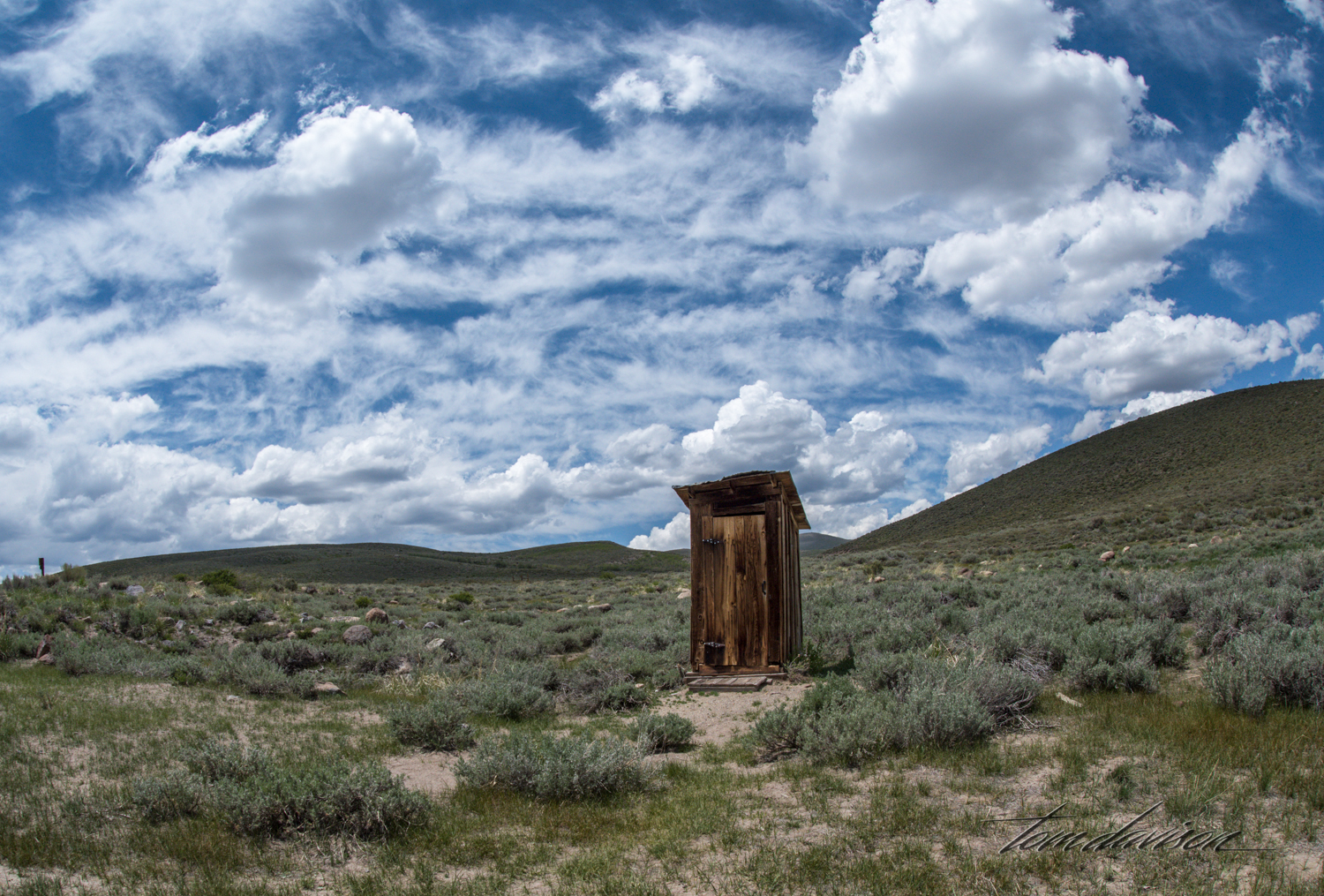 There were a number of outhouses dotting the fields. I am assured that one of them was operational.