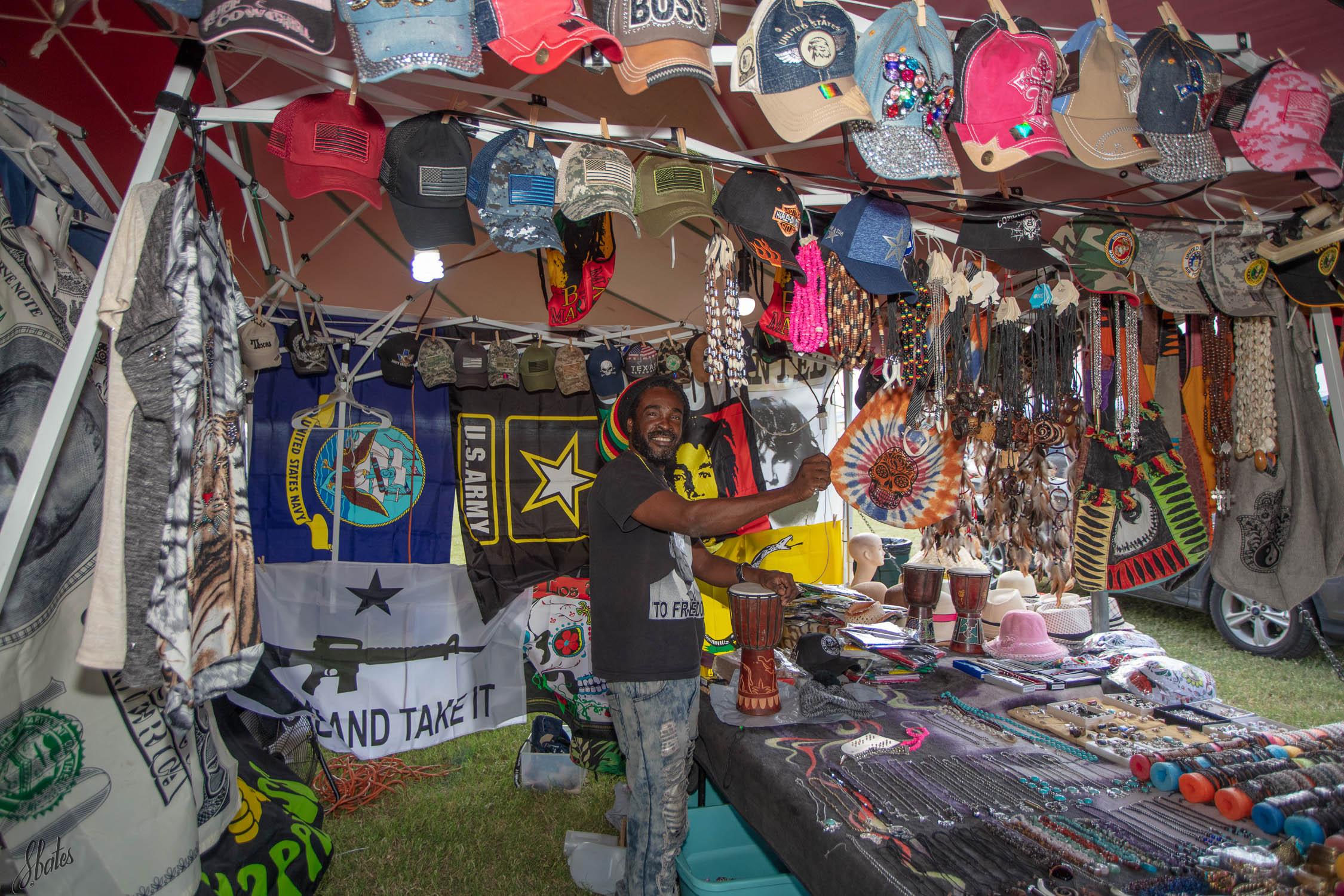 Vendor from Ghana, Africa.