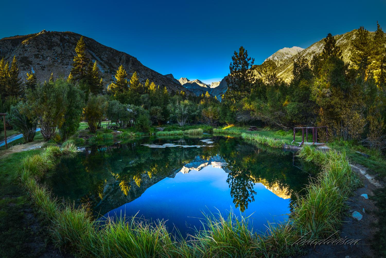 Pond at Glacier Lodge near Big Pine Creek.