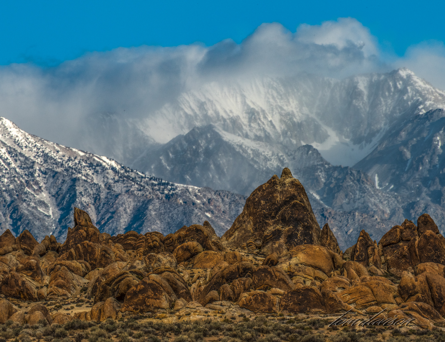 The Sierra as viewed from Alabama Hills.