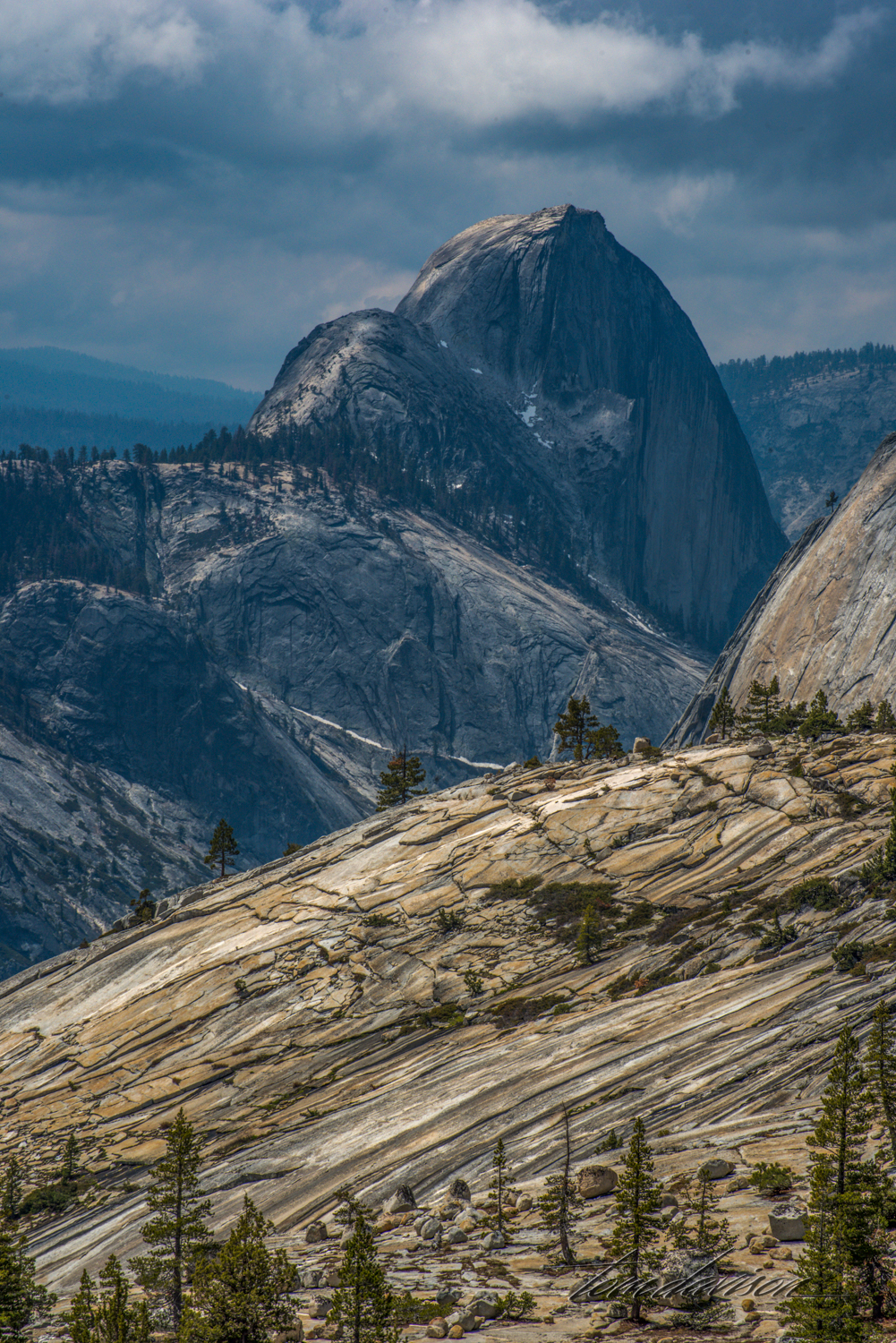 Yosemite National Park with Half Dome as seen from Olmstead Point.