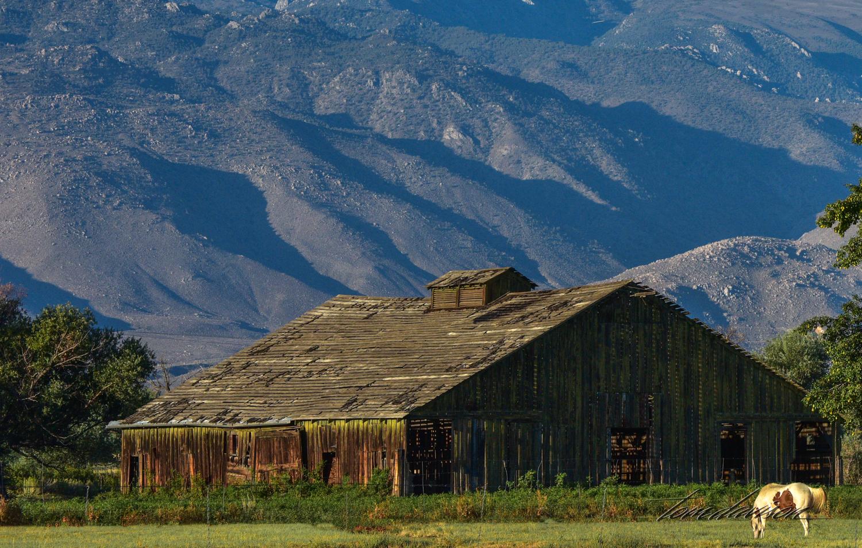 Barn along Highway 395.