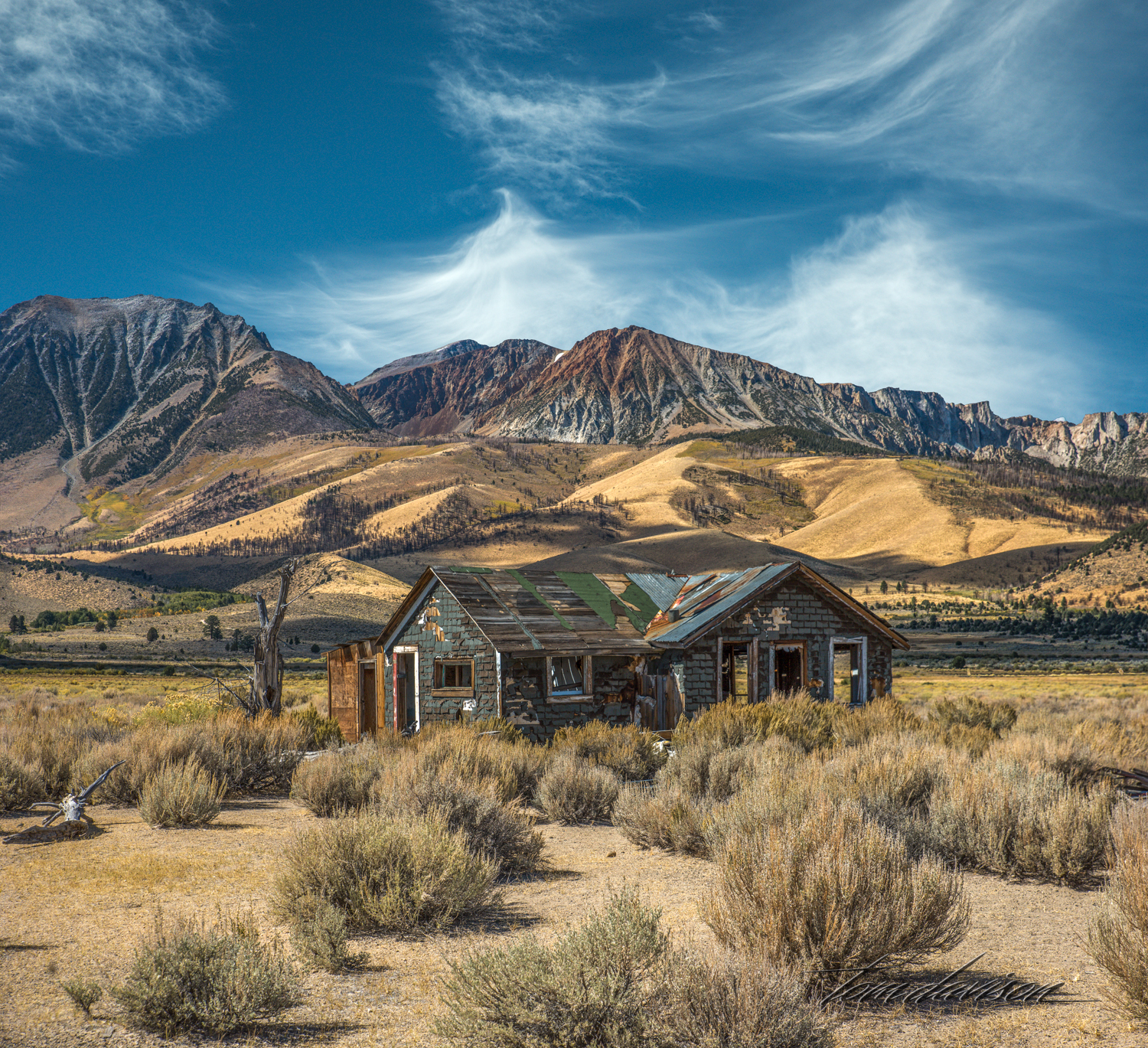 Much photographed (we stopped at least 5 times) old house along Highway 395.