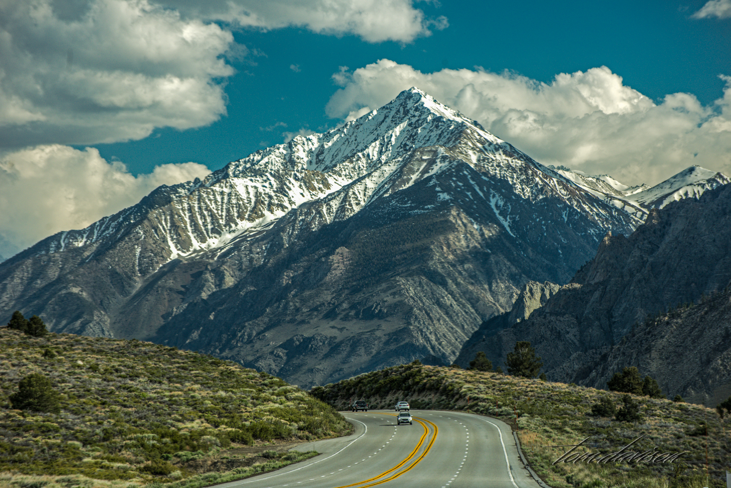 Mt. Tom from Highway 395.